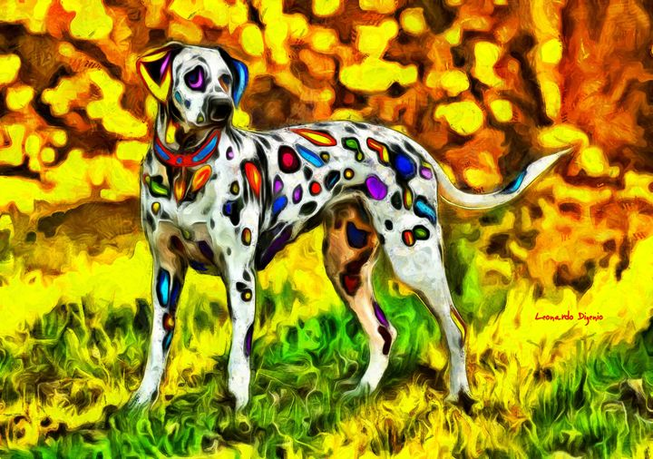 Colorful Dalmatian 800 - Leonardo Digenio