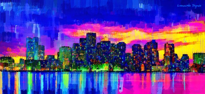 Boston Skyline 100 - Leonardo Digenio