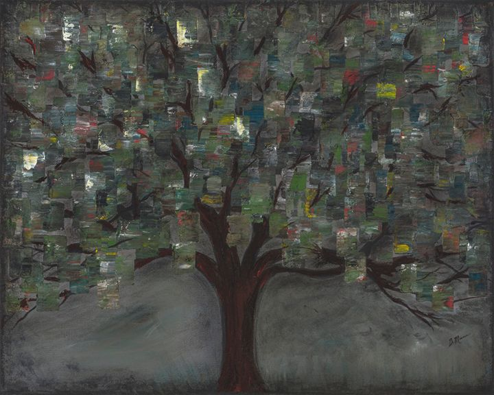Tree of Squares - Art by Donna Mann