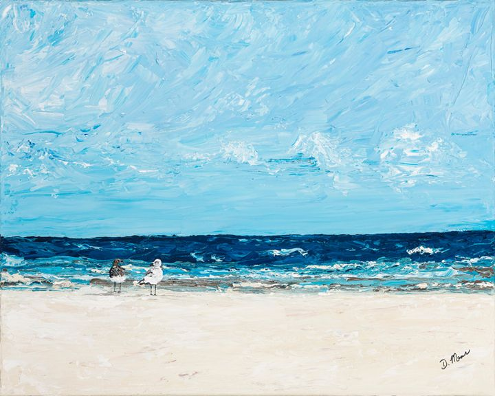 Seagulls at Myrtle Beach - Art by Donna Mann