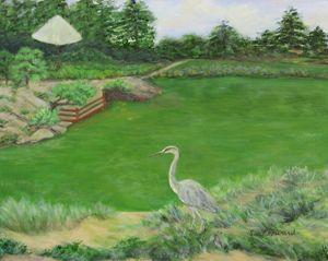 In Stillness the Heron Waits