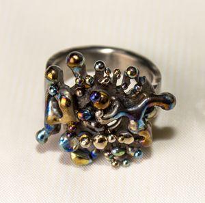 Indian Tales. Titanium ring