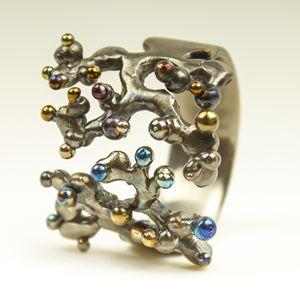 Interconnection. Titanium ring. 2014