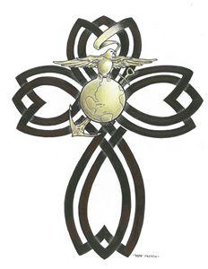 Patriotic Eagle Cross