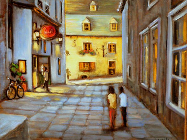 Old Quebec street at night - imaginart