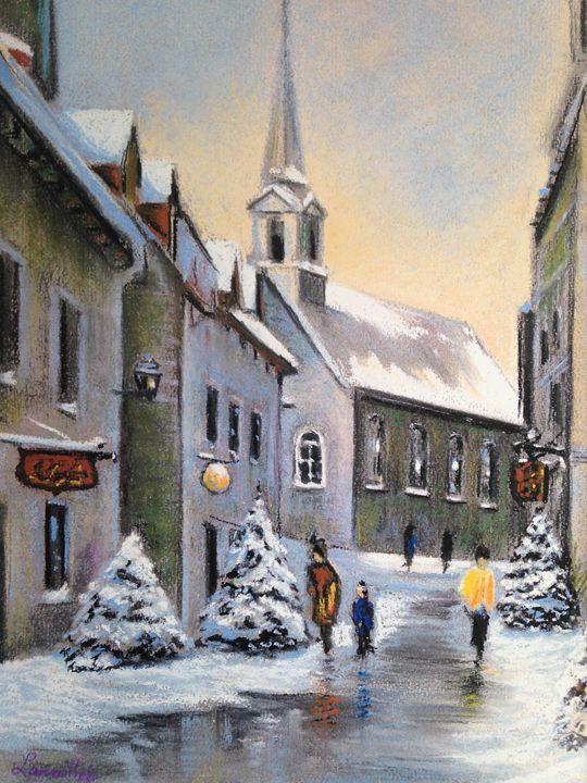 Winter on Place Royale Quebec - imaginart