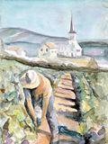 "Original watercolor 8¼""x11½"""