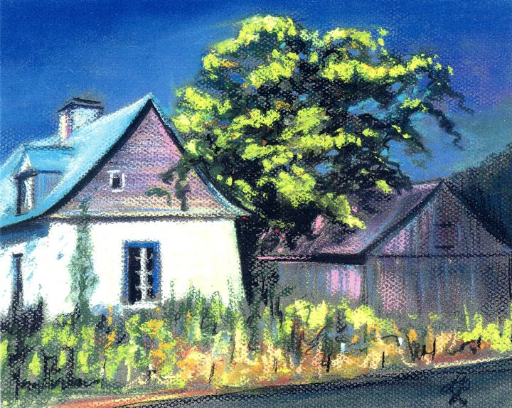 On the road in the village - imaginart