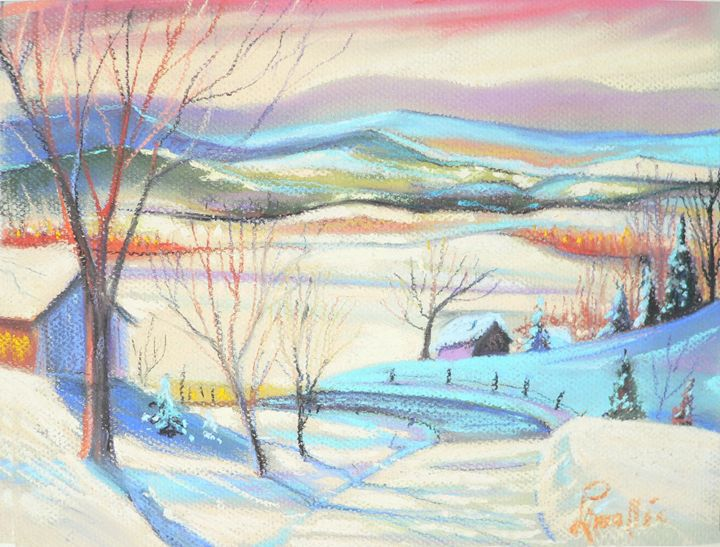 A pastel winter scenery - imaginart