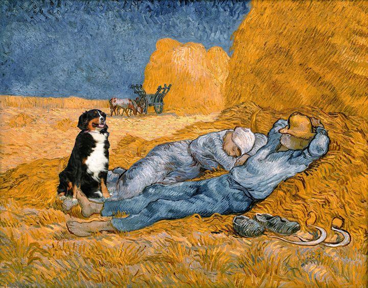 What is that dog in Van Gogh's art? - imaginart