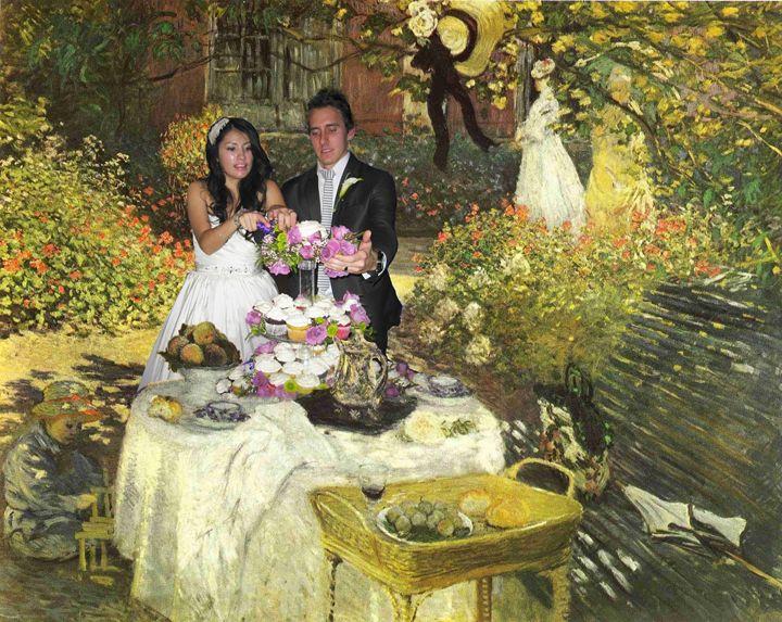 Claude Monet wedding cake - imaginart
