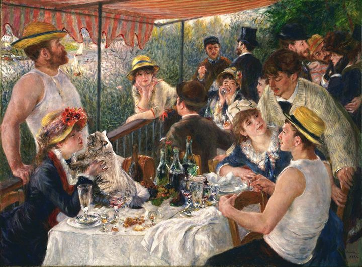 A cat in Renoir's painting - imaginart