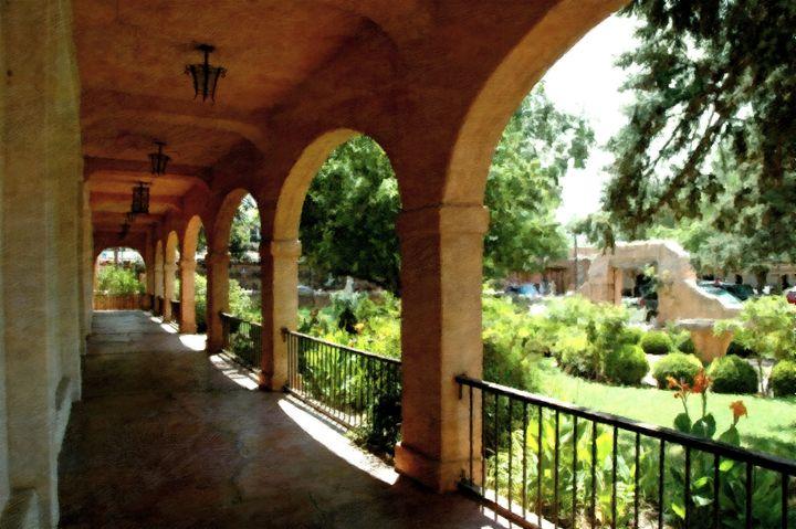 Southwestern convent walkway - Unseen Gallery Prints
