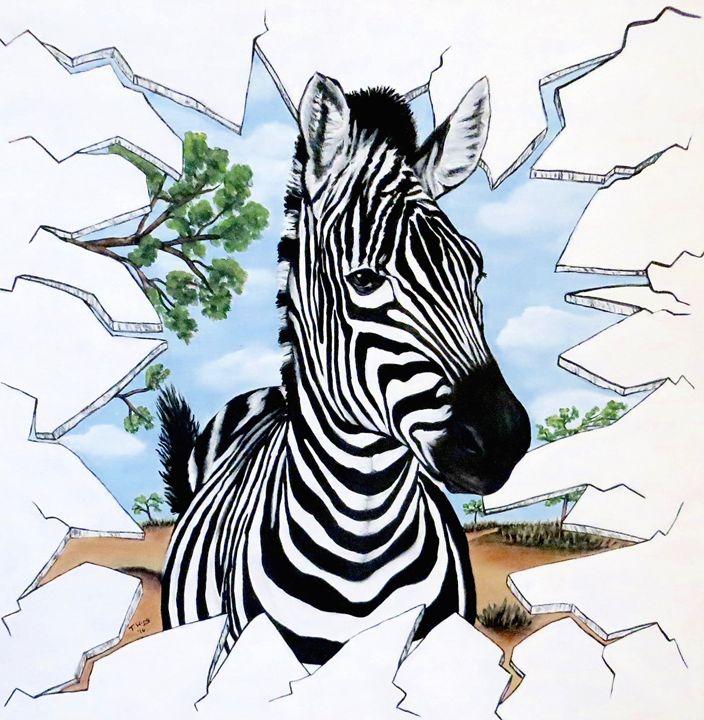 Zany Zebra - Teresa Wing