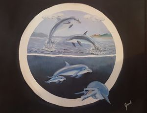 The Dolphins - original sold