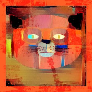 Cat Man Blue