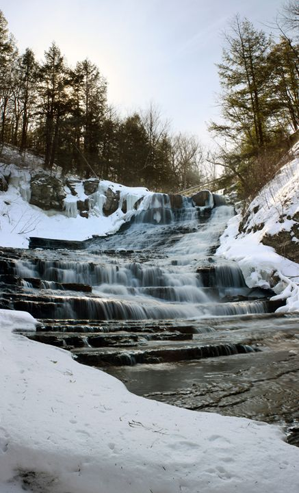 Winter Waterfall - Alex Sobiecki Photography