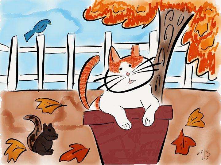 Sunshine Loves Fall - Sunshine's Doodles
