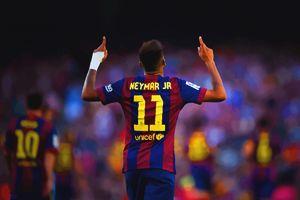 Neymar of FC Barcelona celebrates