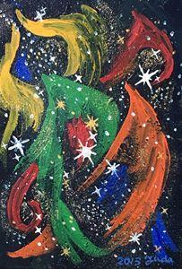 Stars singing and dancing