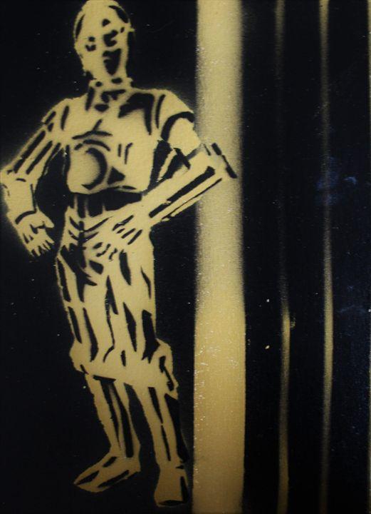 C-3PO Stencil - Paul White