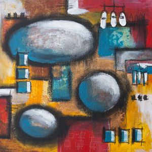 Eggsart abstracts Mixed media