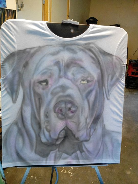 My dog on T-shirt - Skunk-Art