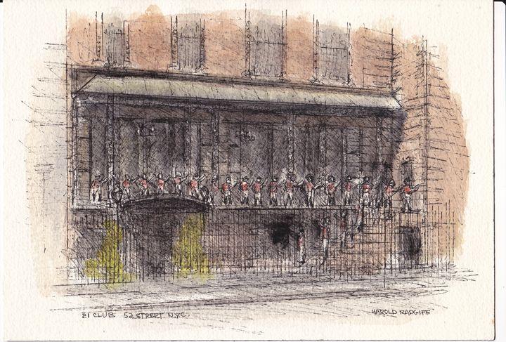 21 Club 52nd Street NYC - Harold Radgiff