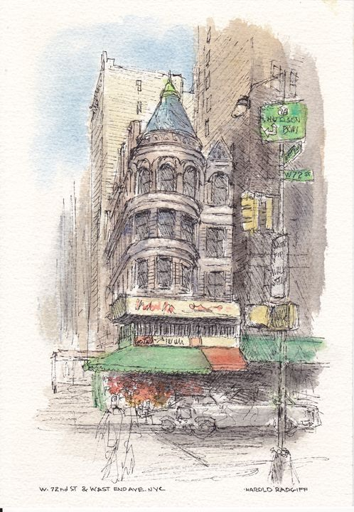 W. 72nd St. & West End Ave. NYC - Harold Radgiff