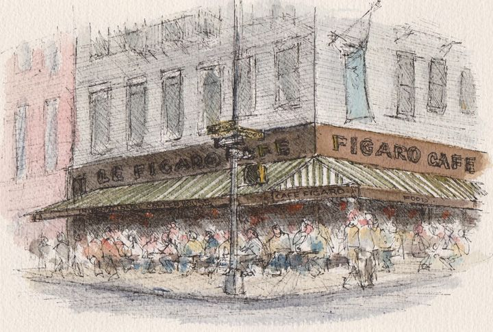 Le Figaro Cafe - Harold Radgiff