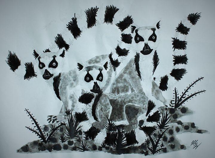 Three Lemurs - Miranda Tamez