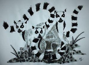 Three Lemurs