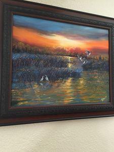 creek side imagination ,oil painting