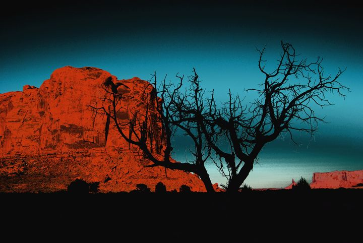 Monument valley Dream in blue - Véronique Holler