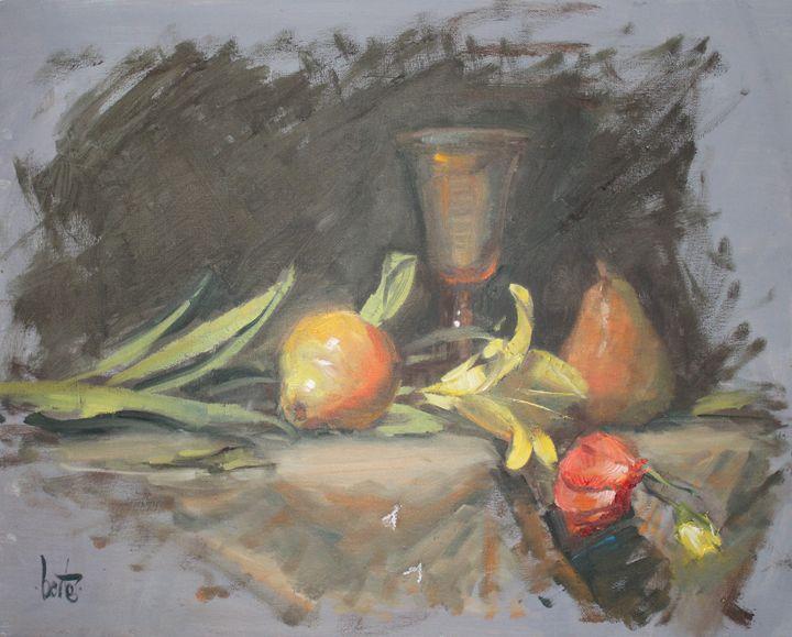 fruit and wine - Berto Ortega