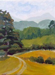 Plein air in the Blue Ridge Mountain