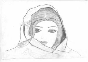 sketching of simply sweet girl