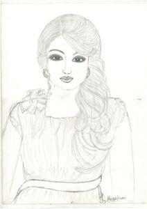 sketching of girl