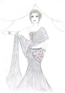 desine of lahnga /sketching