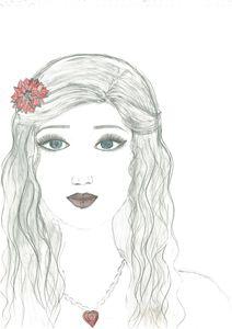 sketching of gorgeous girl