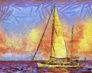Sailing to Sint Martin - Great Dane
