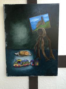 """holocaust Oil on Canvas 40""""x30"""" ART"""