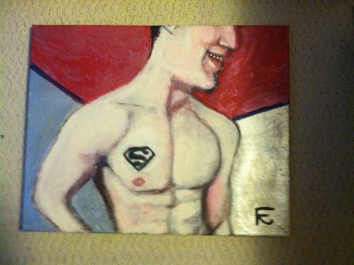 Superman in acrylic - FK Art