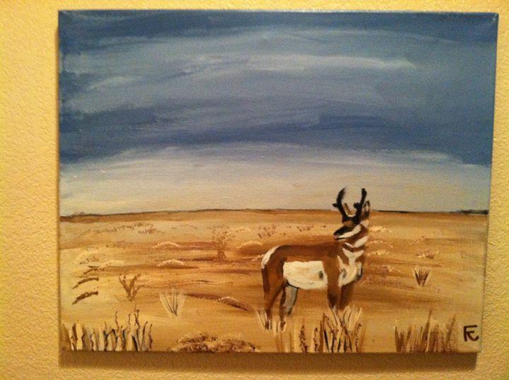 18x24 Acrylic Antelope on Canvas - FK Art