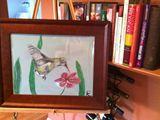 12x18 acrylic hummingbird