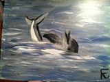 12x18 acrylic dolphin
