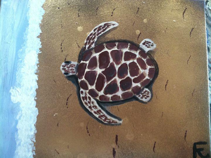 18x24 turtle on canvas - FK Art
