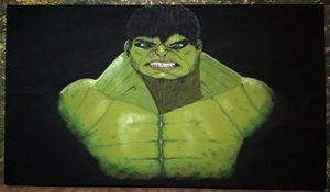 Hulk! Acrylic painting