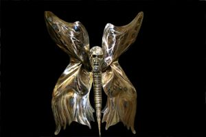 The Moth Man - My Minds Eye Stainless Steel Sculptures