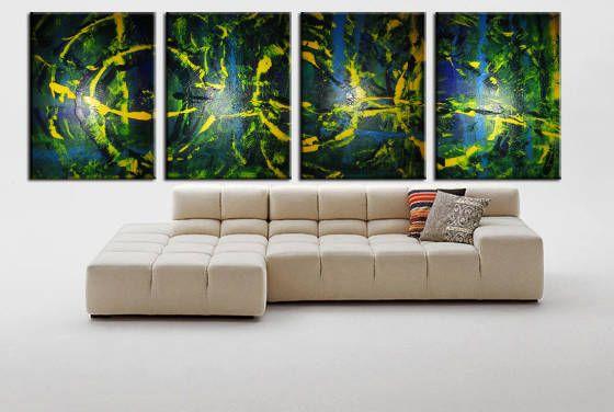 Abstract blue green yellow - Peter Abstract Modern Art